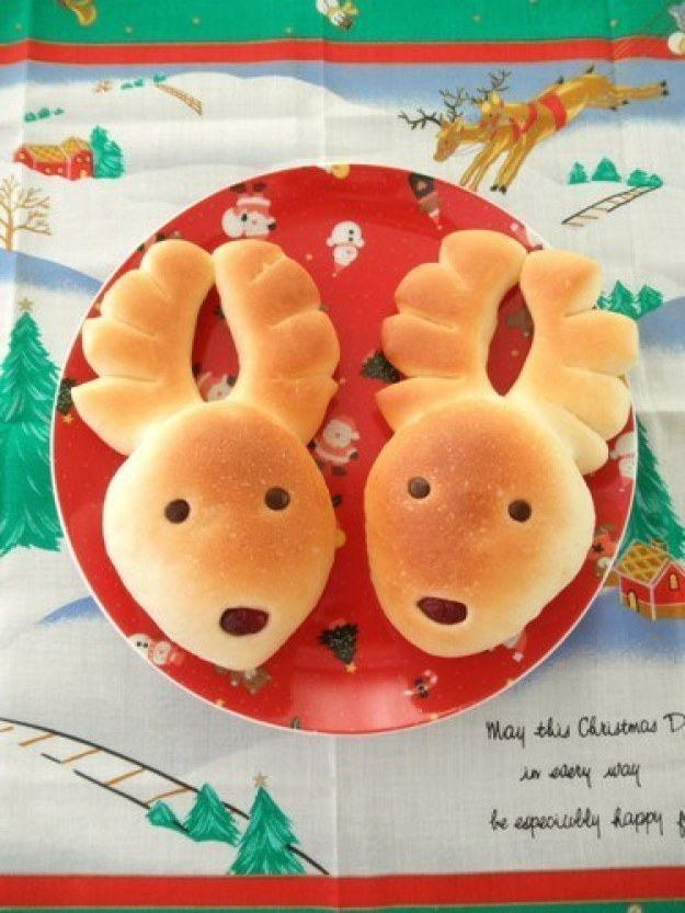 Christmas Reindeer Bread Rolls