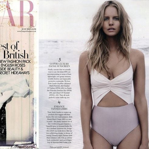 But would you know that image was stolen from a 2013 copy of Harper's Bazaar?