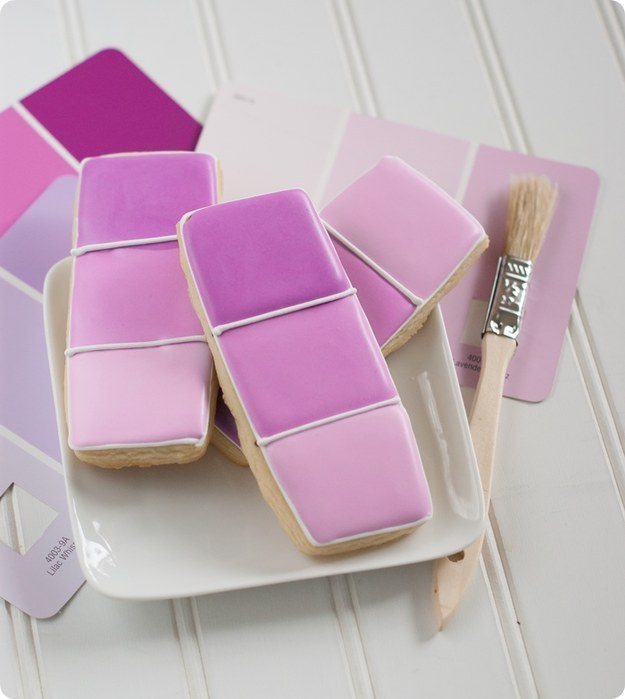 Radiant Orchid Paint Chip Cookies