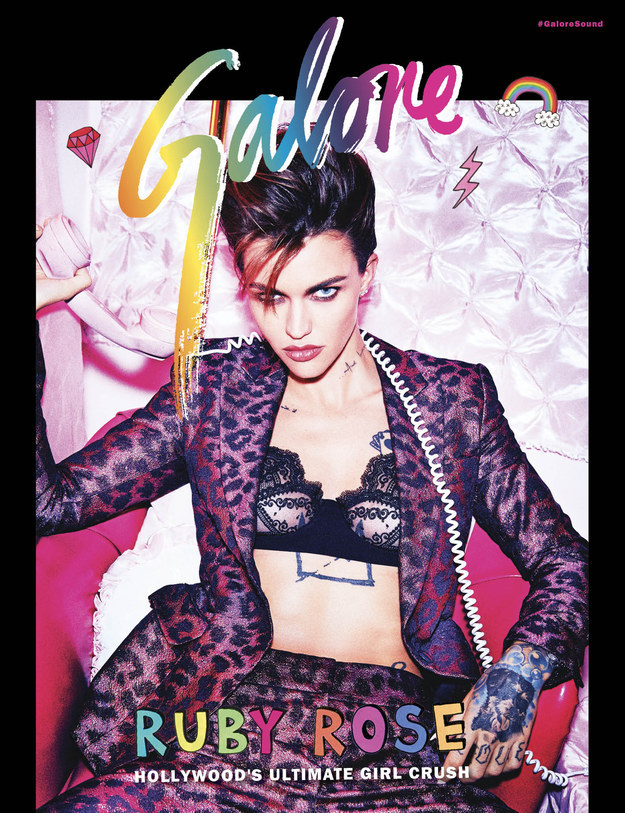 Prepare to be blessed because Ruby Rose's photoshoot for GALORE is truly something else.