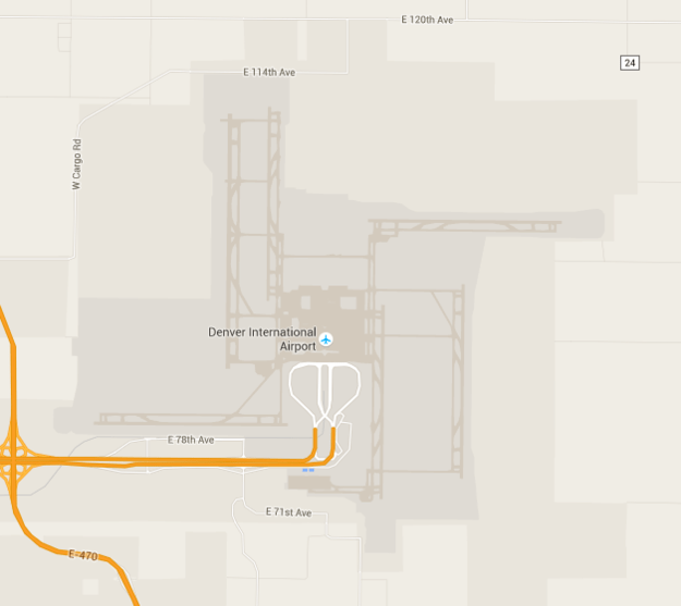 The airport's runways look like a swastika.