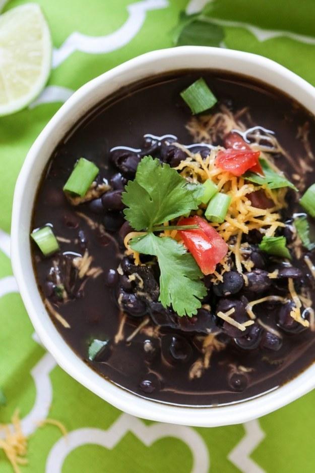 Seven-Ingredient Black Bean Soup