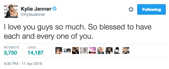 """After revealing the magazine covers, she tweeted thanks to her followers, saying she felt """"so blessed""""."""