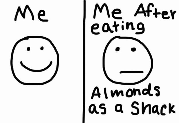 But almonds suck.