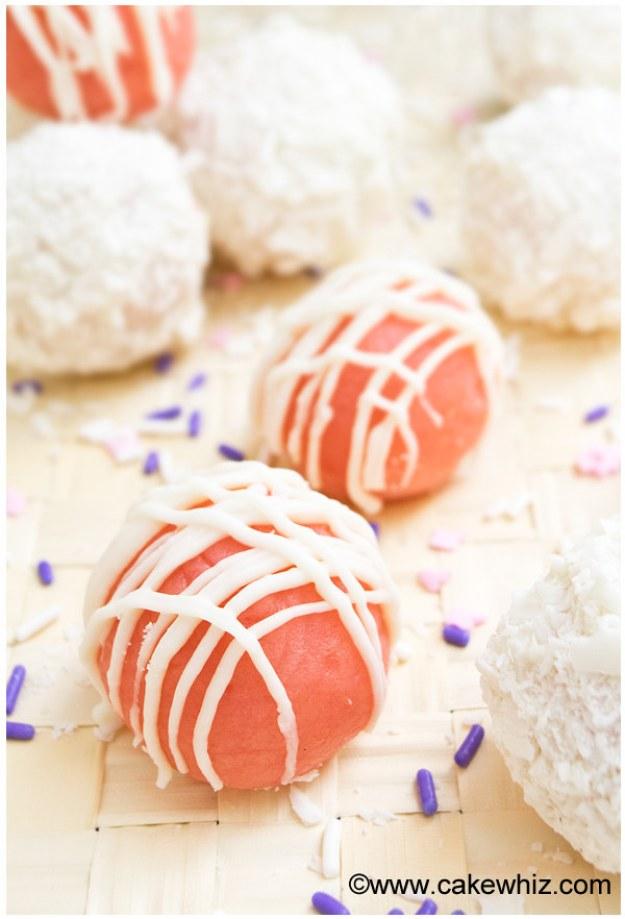 Pink Cake Truffles