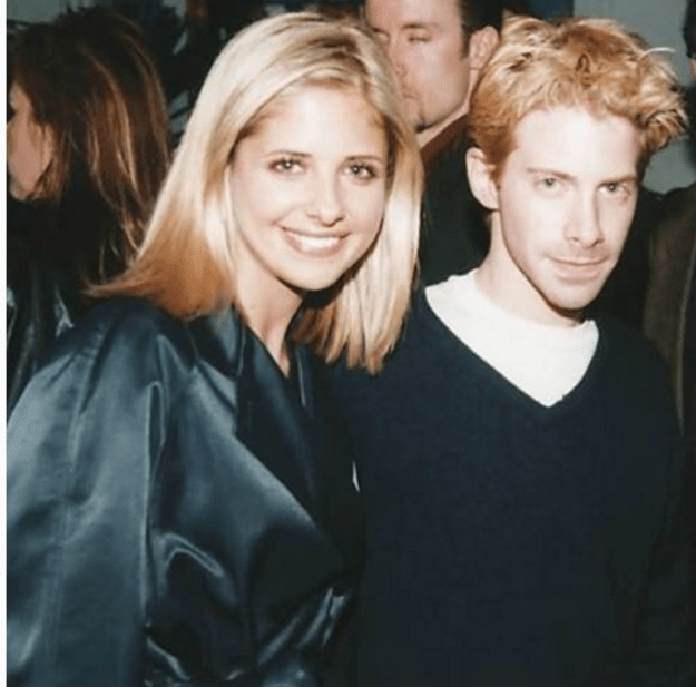 In honor of Sarah Michelle Gellar's 39th birthday, Seth Green shared this photo from their Buffy days.