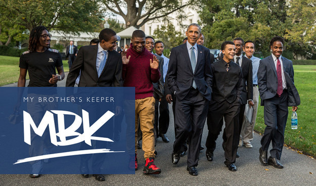 The video was part of a campaign to promote the president's mentoring initiative, My Brother's Keeper, which aims to provide role models for young men of color.