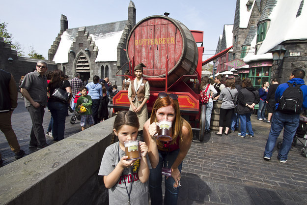 You'll want to head over to the Butterbeer Cart for a mug of butterbeer, which kids will LOVE.