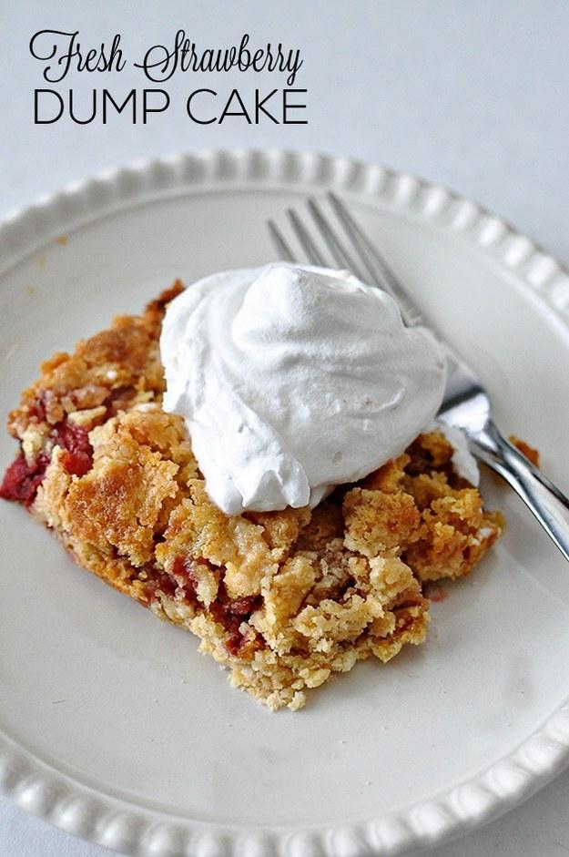 Easy Strawberry Dump Cake