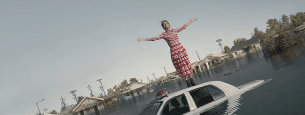 The visual for the song showed a few scenes that rubbed some the wrong way, like seeing the singer standing on a police vehicle as it's submerged in water.