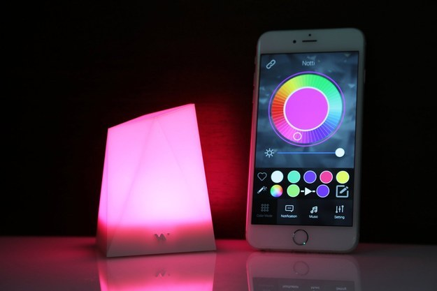 The Notti Smart Mood Light ($50) changes color for different phone notifications.