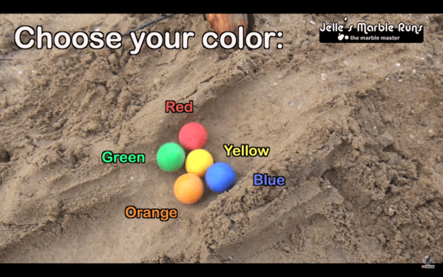 On Sunday, a video of coloured balls racing through a sand course was shared by numerous Facebook pages and quickly gained millions of views.