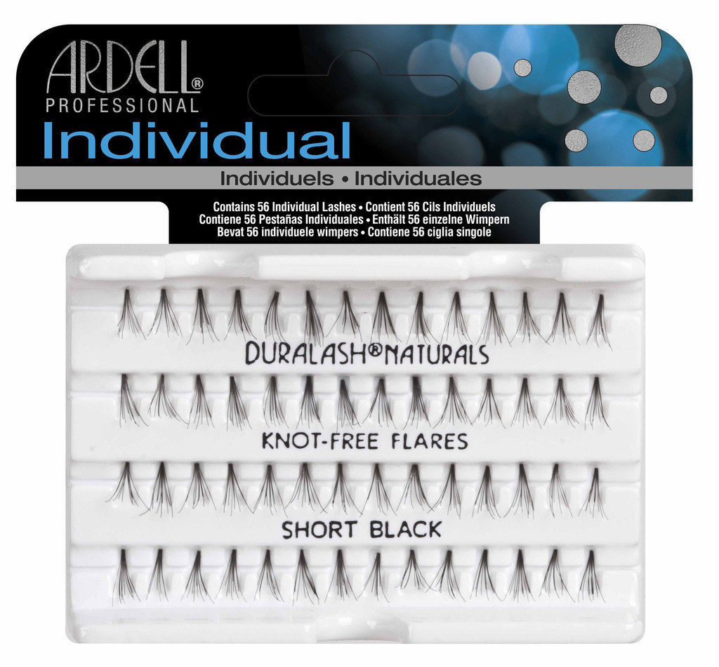 If you are after a more natural look, or want to wear lashes without eyeliner, then you should go for knot-free lashes. Knotted lash clusters have a knot joining the lashes, but the knot-free don't have this. Which means it blends in with the lashes better. Try the Ardell Duralash.