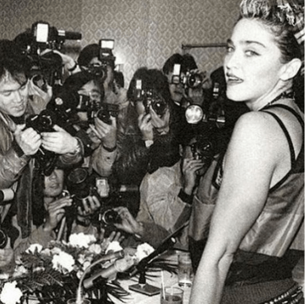 Madonna also took us back to the '80s with this photo of herself visiting Japan in 1985.