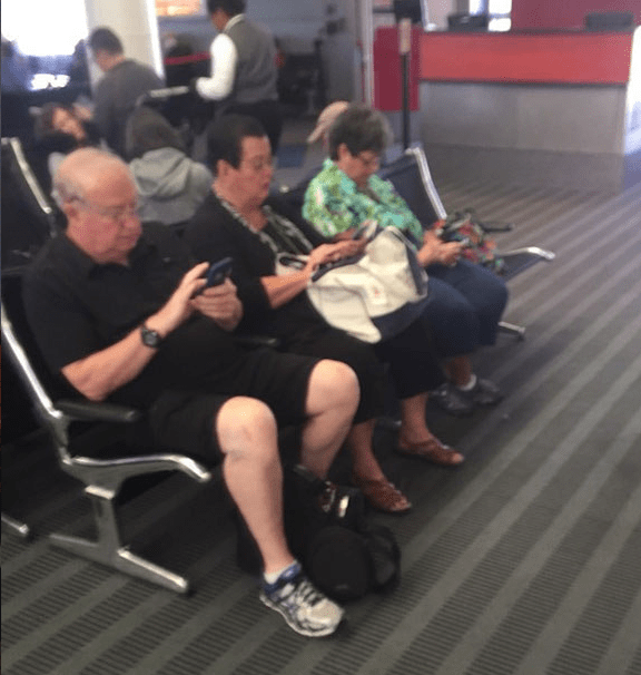 Wow, can't this generation get off their phones for ONE minute?