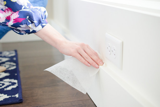 Wipe down the baseboards in your hallways with a fresh dryer sheet.
