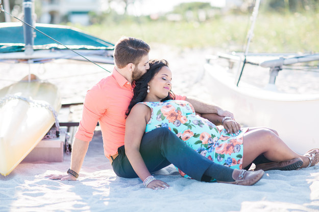 The two recently did a maternity photo shoot, which Pardo's best friend set up for them.
