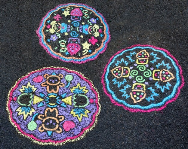 Your kids will spend hours drawing chalk mandalas on the driveway.