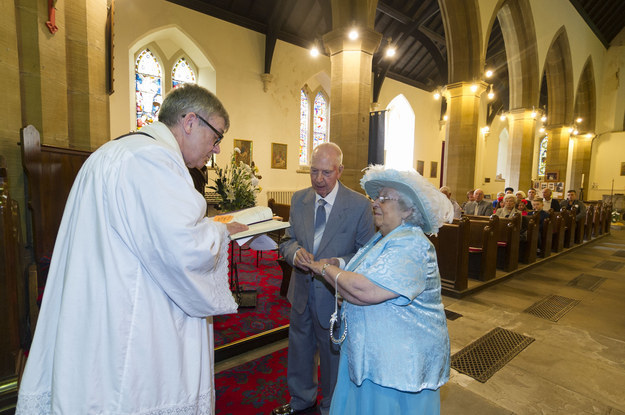 """""""It was worth the wait,"""" Sally told the Yorkshire Evening Post. """"The day was lovely, even the weather. We had a beautiful cake at the reception, but the highlight for me was actually getting married."""""""