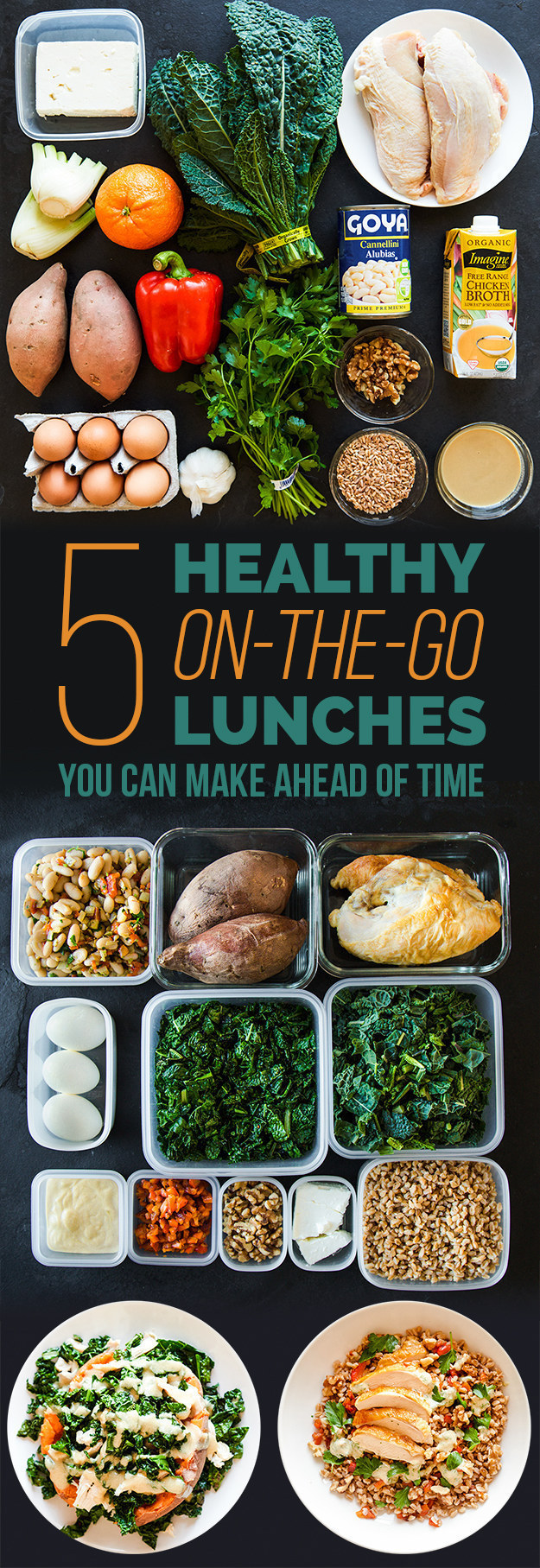 Not great about planning your take-to-work lunches? Here's a step-by-step guide to doing just that!