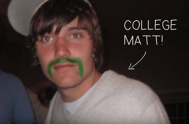 Yep, I took budgeting tips from this handsome guy with a drawn-on green mustache.