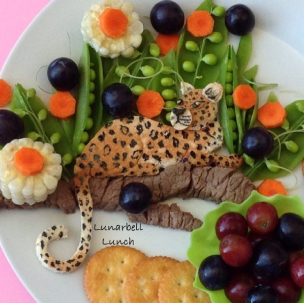 She often uses the food creations as a way to sneak healthy foods into her kids' diets.
