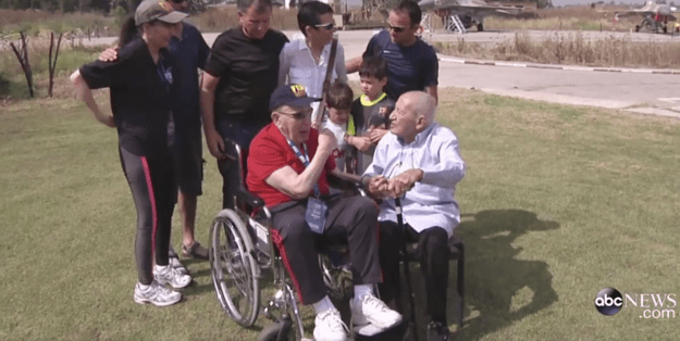 During the emotional reunion, the two met each other's children, grandchildren and great-grandchildren.