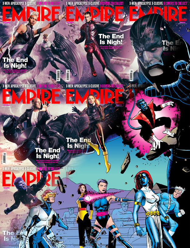 Before the release of X-Men: Apocalyse she decided to do the same with X-Men's uniforms as they were portrayed on the covers of Empire magazine.