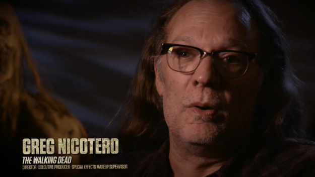 "Greg Nicotero, executive producer and director of The Walking Dead, has been very involved in crafting the new attraction. ""It's very exciting to be able to make the attraction as 100 percent authentic as possible,"" he says in the clip."