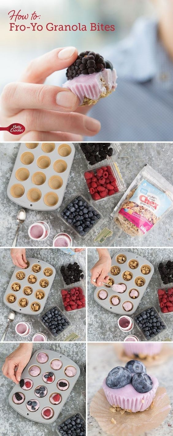Try these three-ingredient froyo granola bites for mornings when you want something a little sweet.