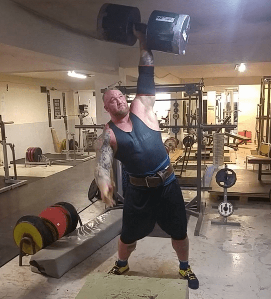 Björnsson is a professional bodybuilder, has an insane diet plan, and he's just sort of all-around terrifying.