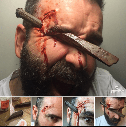 Marc Clancy, a 39-year-old graphic designer from Melbourne, Australia, takes these the gruesome makeup photos as a hobby. He started around two years ago.