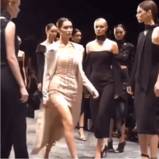 When IMG Models, an international modeling agency, posted video of the closing show led by Bella Hadid, people were pretty livid.
