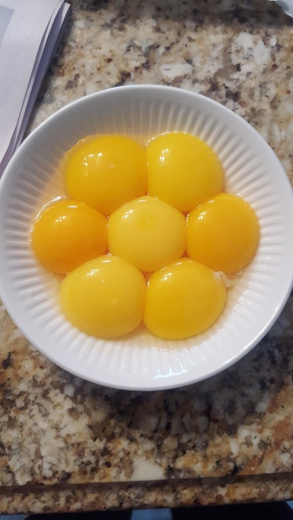 These yolks.