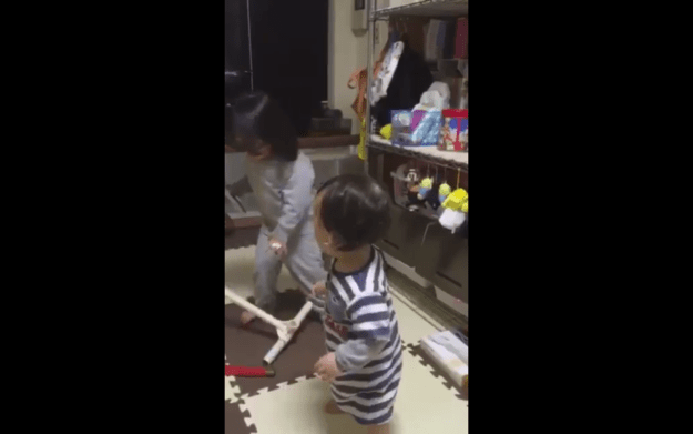 Haru kicks over her mic stand and BREAKS it.
