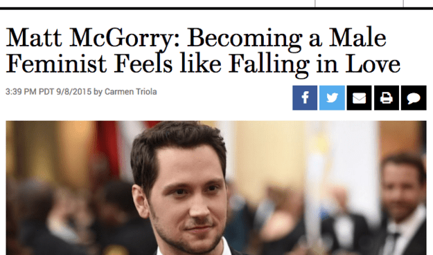 So, there's a phenomenon that's been happening lately where socially conscious guys are getting a lot of praise for being feminists — which isn't necessarily a bad thing!