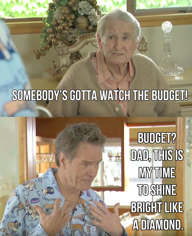 In typical My Super Sweet 60 style, Bryan doesn't want to HEAR about the budget from his parents.