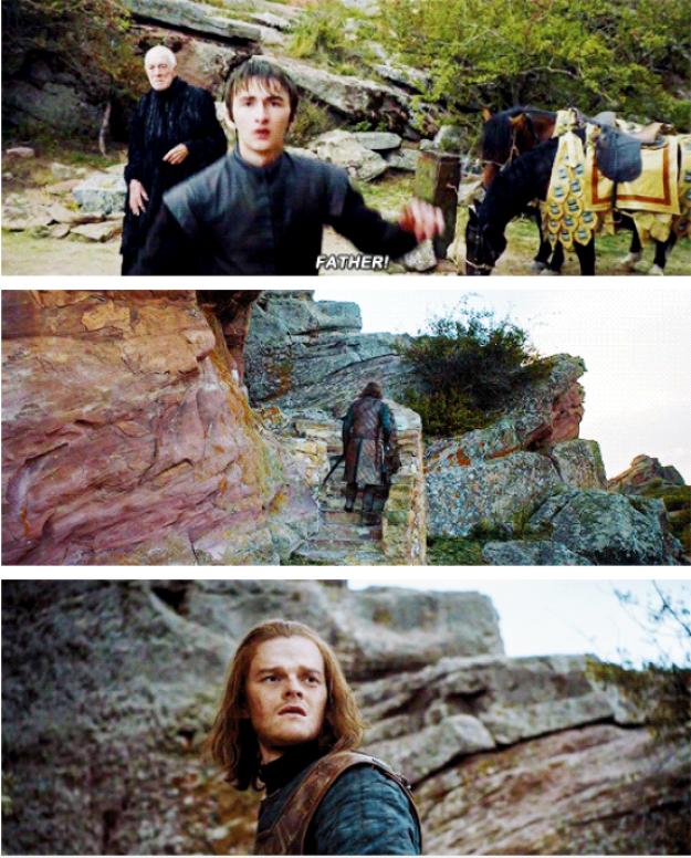 Desde que Bran vio a su papá de joven en la Torre de la Alegría, supimos que podía comunicarse con el pasado.