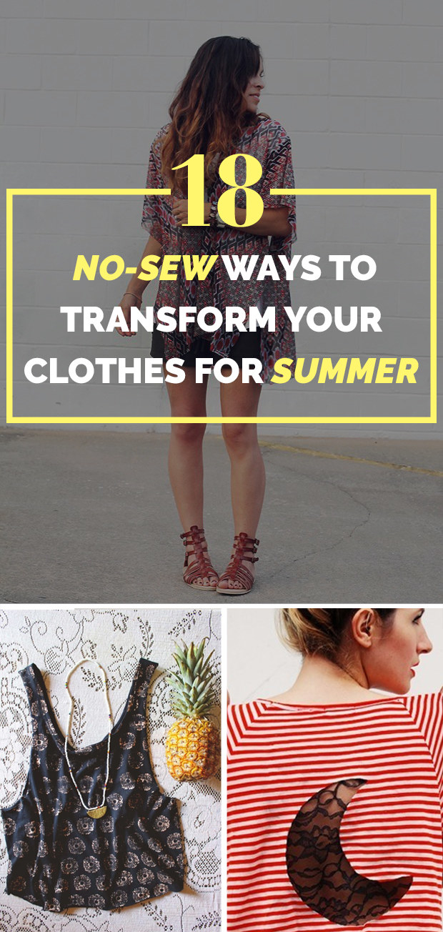 18 Cheap Ways To Make Your Old Clothes New Again Share On Facebook Share