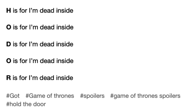 In what was probably the most gut-wrenching episode ending since the Red Wedding, the internet understandably was immediately in need of a hug.