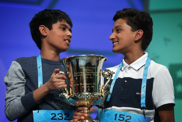 The Scripps National Spelling Bee — perhaps the most riveting annual sports event ESPN has to offer — drew to a close Thursday night after awarding its third consecutive tie, this year to 13-year-old Jairam Hathwar and *11-year-old* Nihar Janga, the youngest kid ever to win the bee.