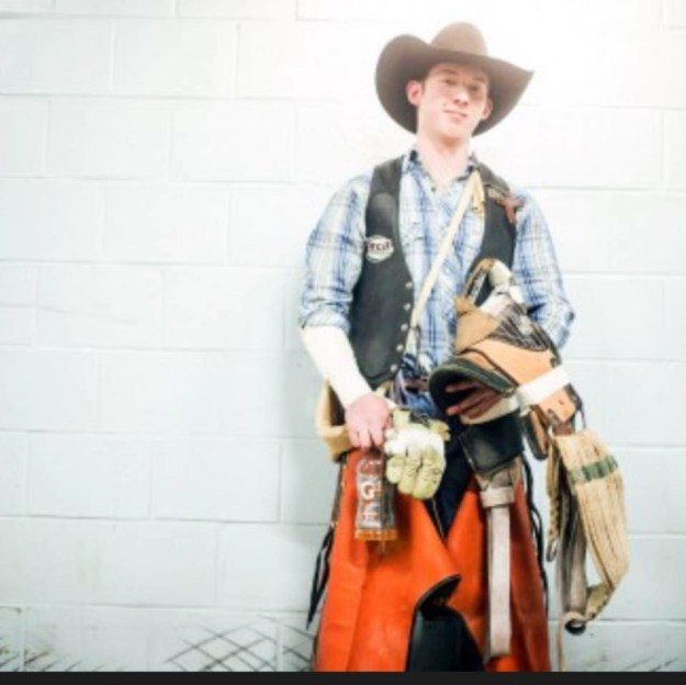 A 19-year-old rodeo rider died Saturday night from injuries he received in an accident during the Cowtown Rodeo in New Jersey, state police said.
