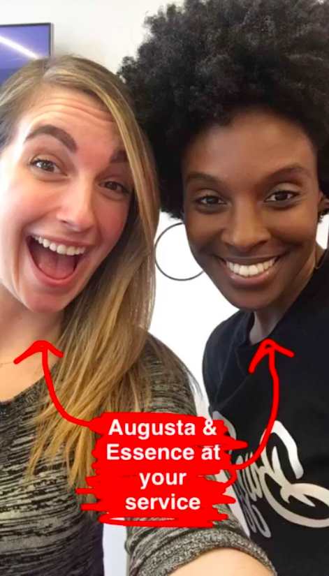 Hi guys! Augusta and Essence here. We're the beauty editors at BuzzFeed.