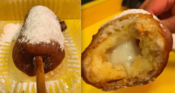 "It doesn't quite pack the heft of an actual deep fried Twinkie (like the one below from Papaya King in New York). So consider it a ""lighter"" alternative."