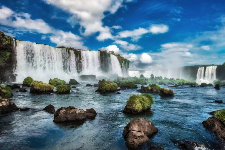 While you're out, why not swing by the Iguazu Falls over in Argentina?