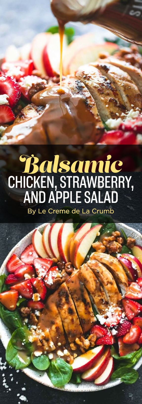 Balsamic Chicken, Strawberry, and Apple Salad