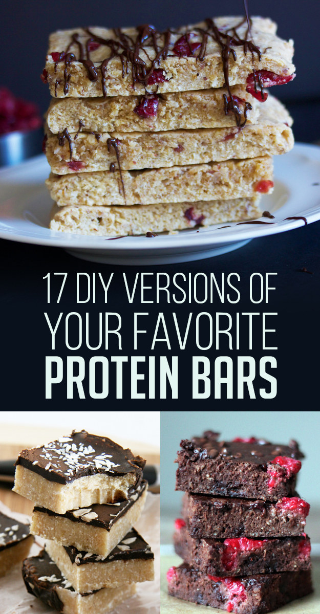 Protein bars are a super convenient on-the-go breakfast or snack, but sometimes they're filled with tons of weird ingredients. Make your own instead!