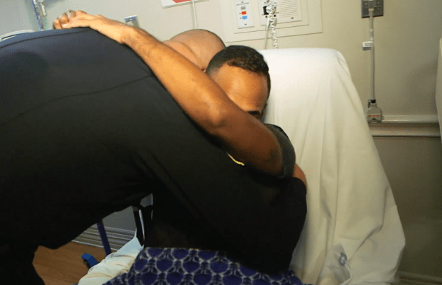 In Colon's hospital room on Thursday, Delgado moved to shake his hand, and Colon pulled him in for a hug.