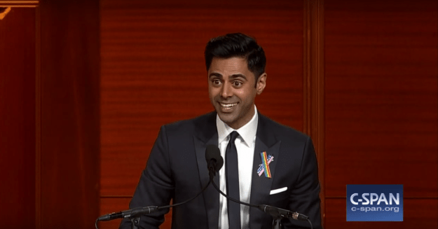 "Minhaj grilled the Republican Party about ending up with Donald Trump as their presidential nominee: ""Howww? How is 86% of the GOP like, 'Yesss! RACIST CHEETO! Finally!?"""