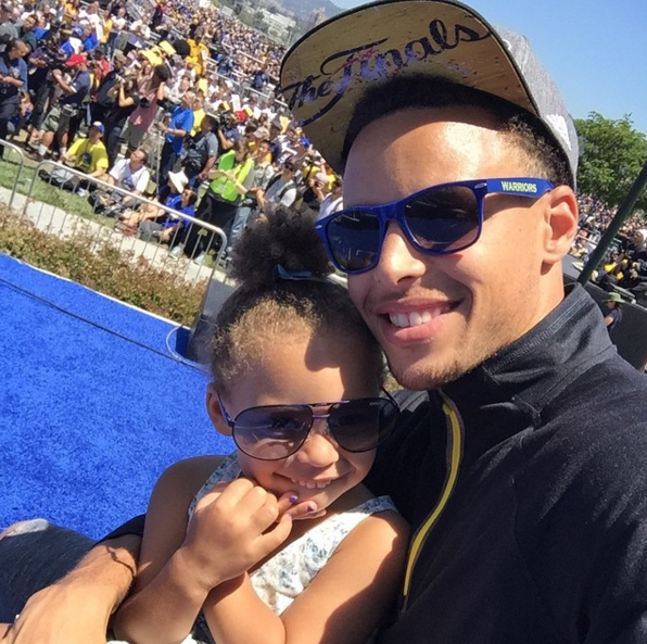 When he helped give the world the beautiful gift that is his daughter, Riley Curry.